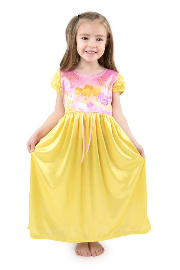 2 Piece Yellow Beauty Nightgown
