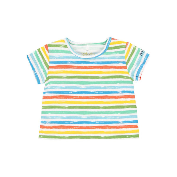 Boys Multi-Color Striped Top