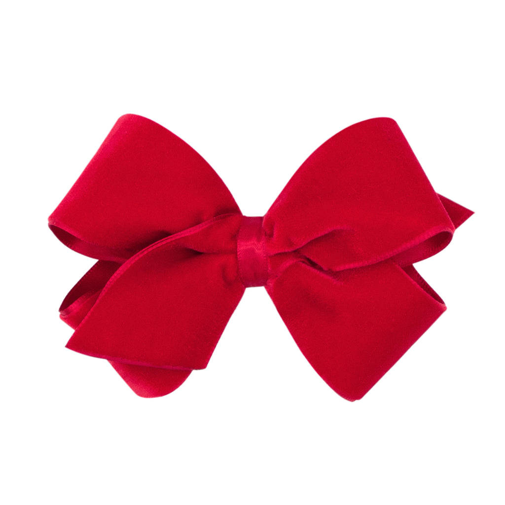 Med Velvet Overlay Bow (Click for colors)