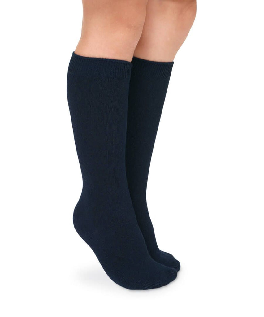 2 PK SOLID TALL SOCKS