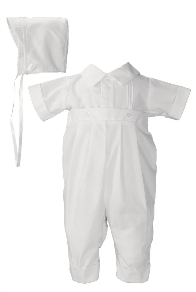 2 PC CHRISTENING ROMPER