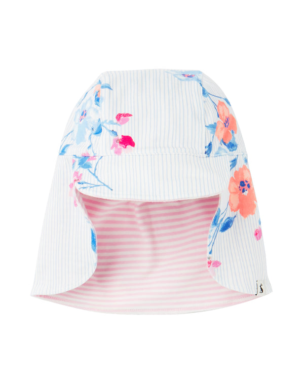 "Girls ""Sonny"" Reversible Hat w/Neck Cover"