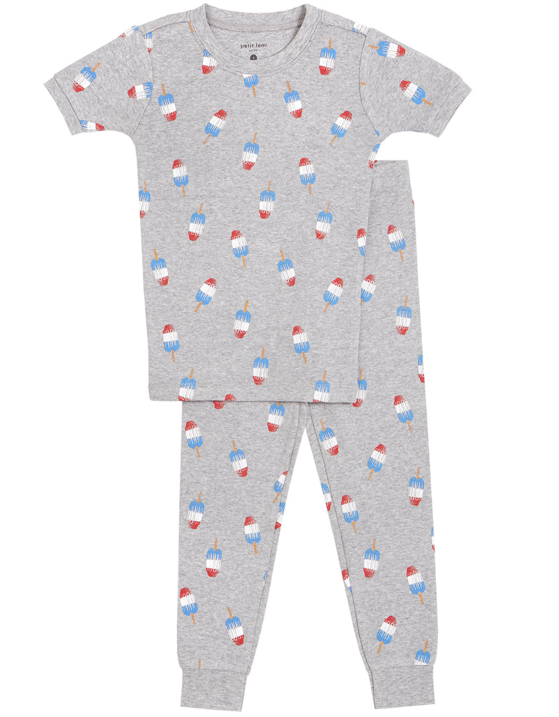 2 Piece Boys Popsicles Pajamas