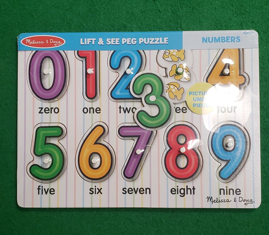 See Inside Numbers Peg Puzzle