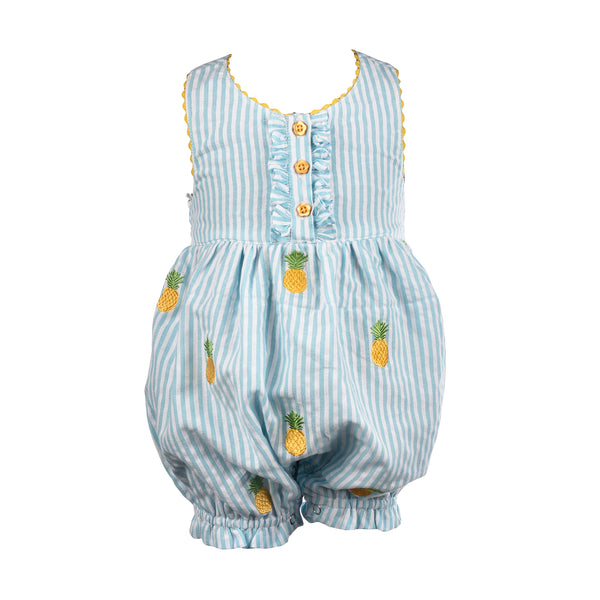 Girls Pineapple Bubble Romper