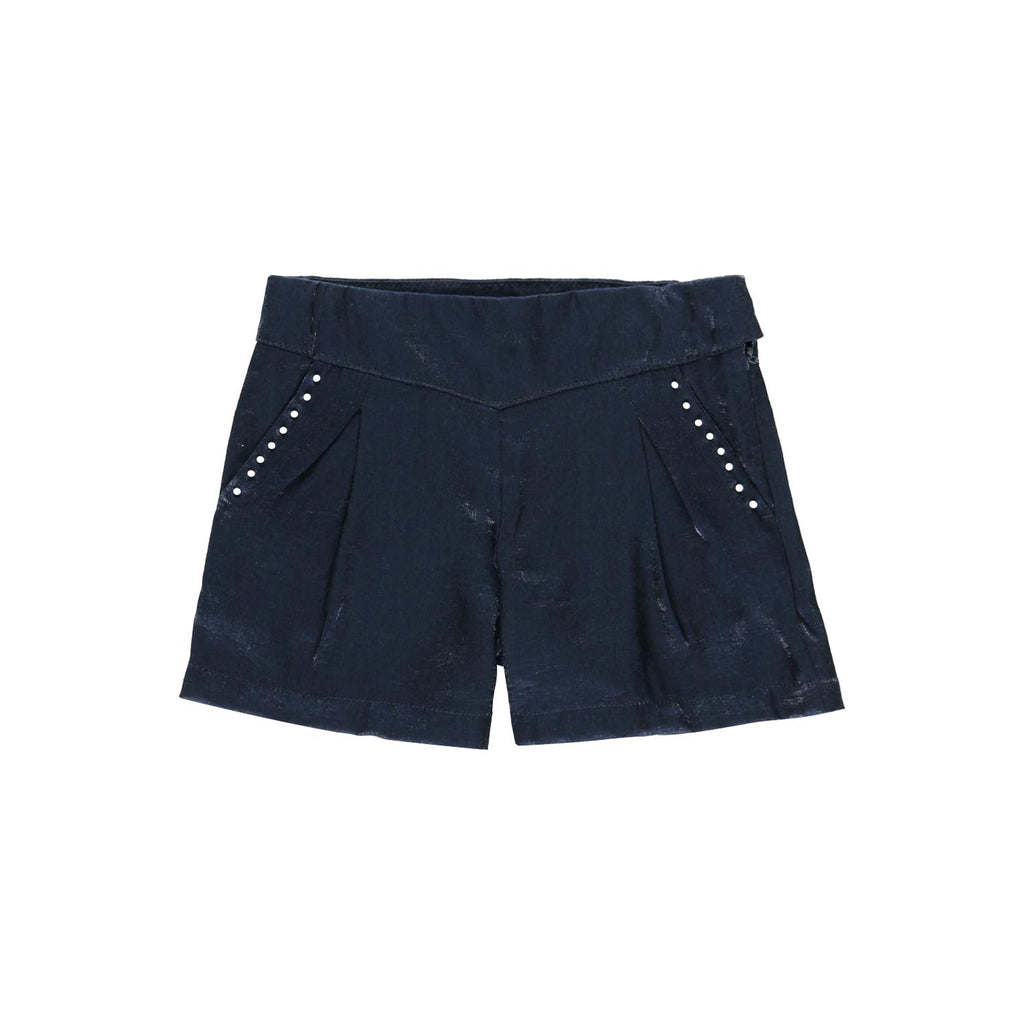 Girls Sateen Pearl Pocket Shorts