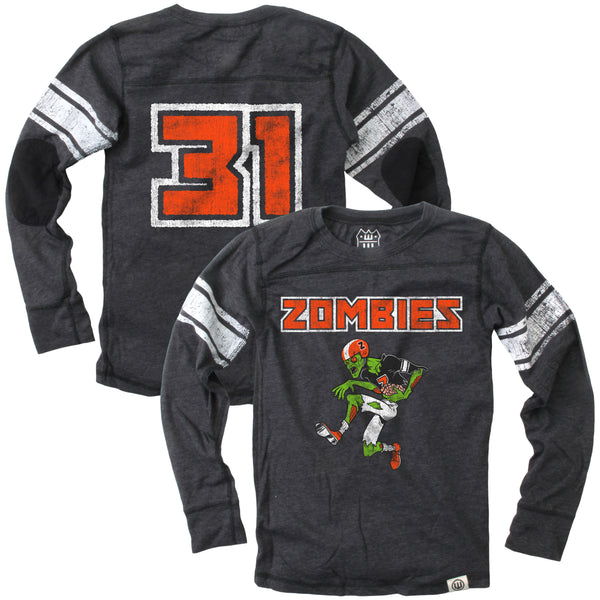 Zombie Football Player L/S T-Shirt