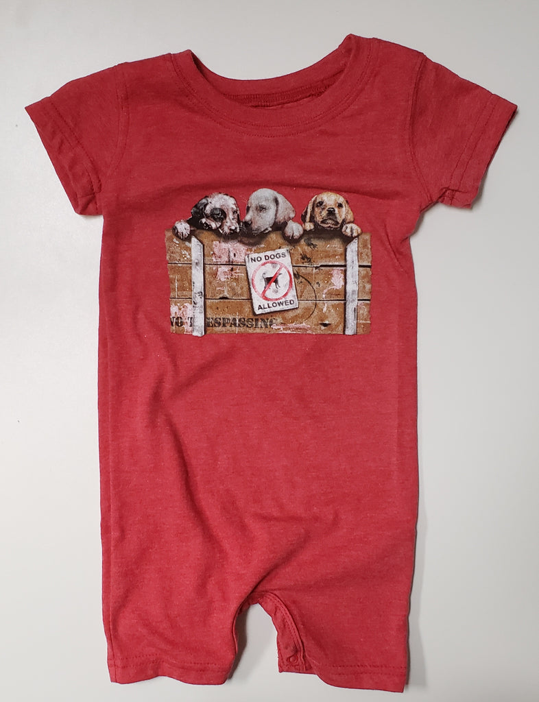 Boys Puppies Short Romper