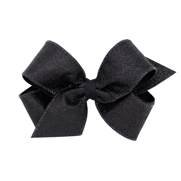 Med Glitter Overlay Bow (Click for colors)