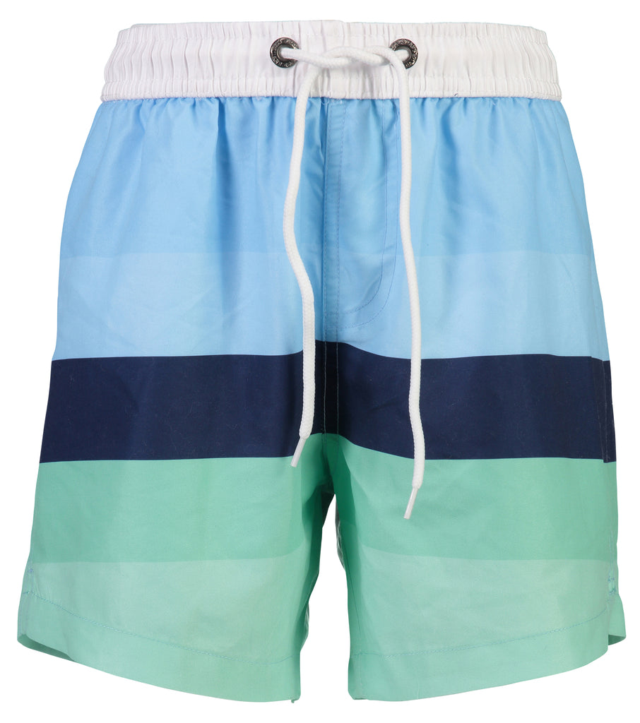 Boys Blue Mint Strip Swimsuit