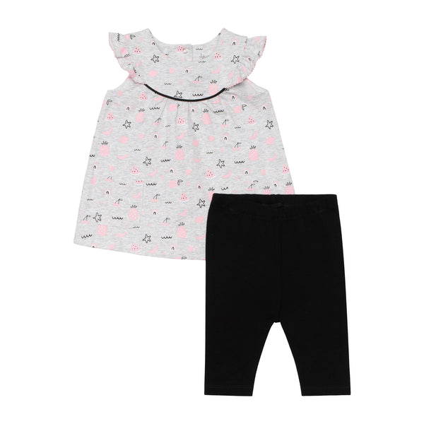2 Piece Girls Fruit Top & Capris
