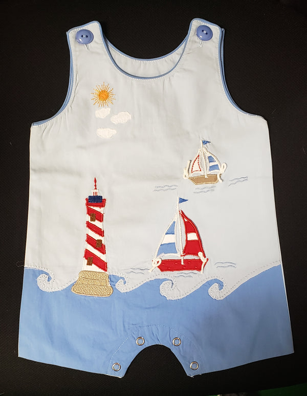 Boys Lighthouse/Sailboat Romper