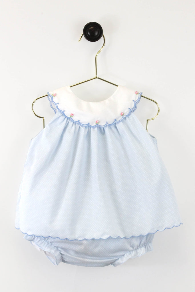 2 Piece Dotted Dress w/Diaper Cover