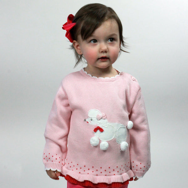 Girls Poodle Sweater