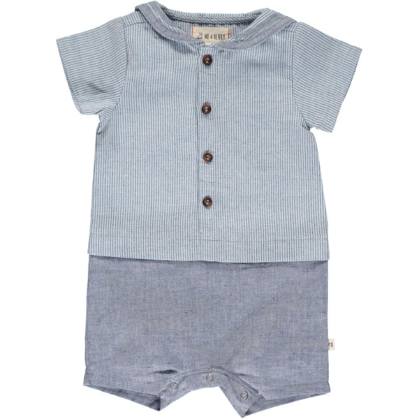 Boys Sailor Short Romper