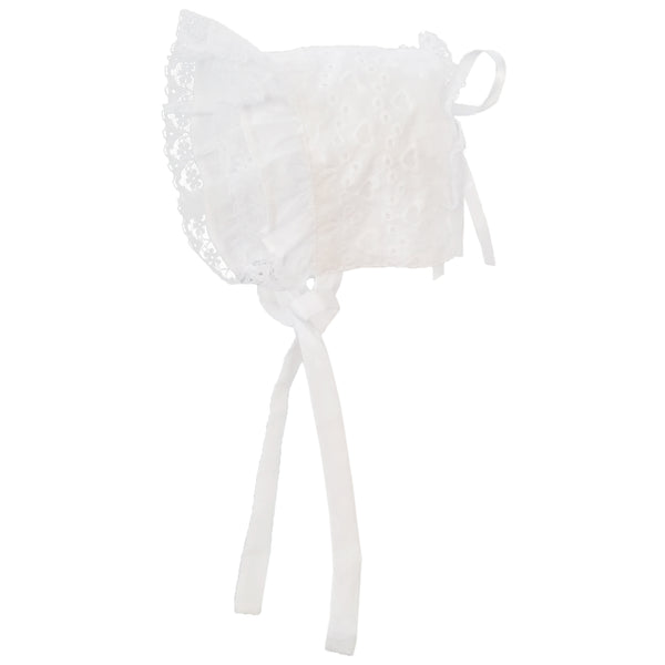 Girls Eyelet Heart Bonnet
