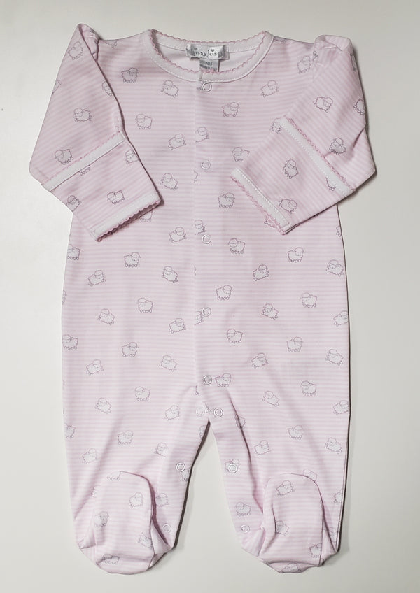 2 Piece Girls Lamb Footie w/Hat