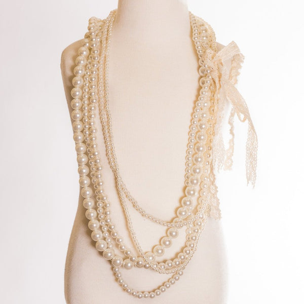 Multi-strand Necklace Pearls Only