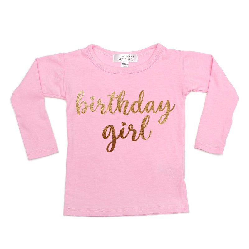 """BIRTHDAY GIRL"" L/S TOP (Click for color options)"