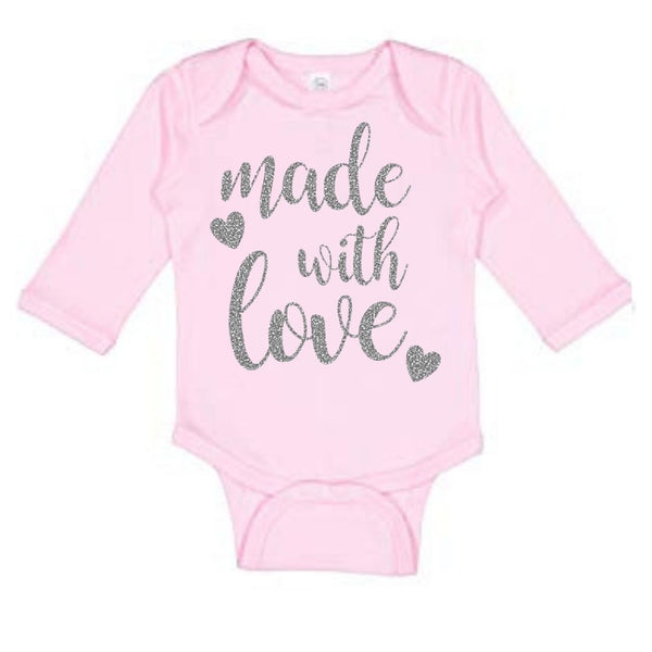 Made With Love Long Sleeve Onesies