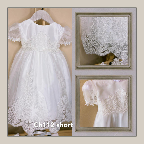 2 Piece Christening Gown w/Bonnet