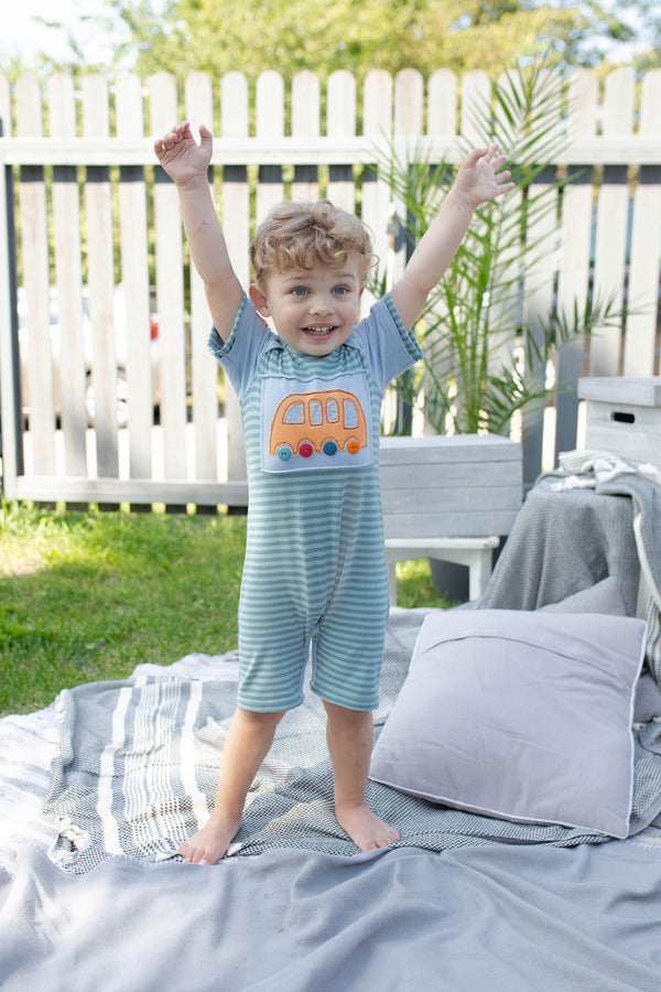 Boys Bus Stop Short Romper