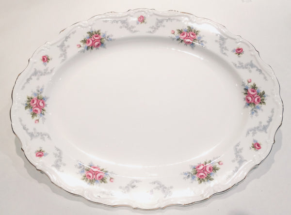 Royal Albert China Tranquility- pink roses - Large serving plate/platter