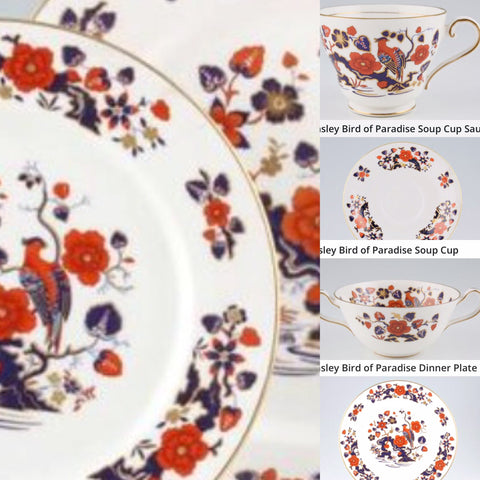 Aynsley Birds of Paradise Dinner Service