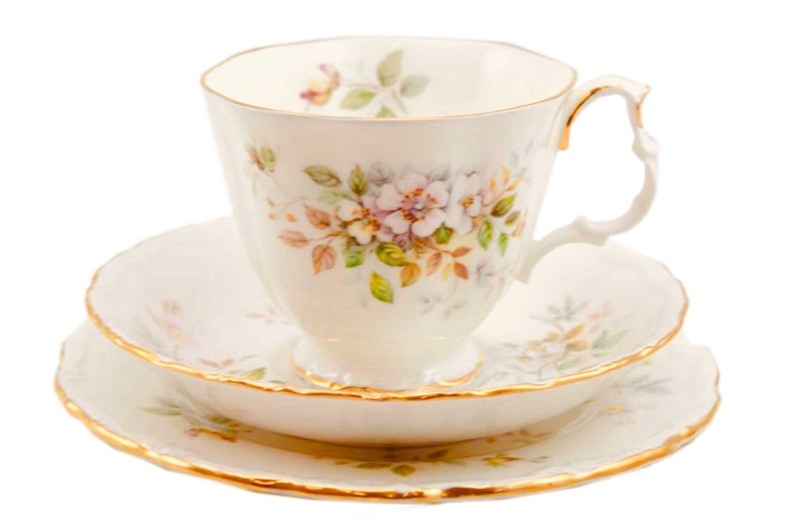 Royal Albert China Tea Cups/saucers - Pattern Haworth