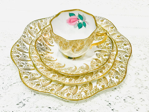 Pink Rose & Gold Tea cup and Saucer Set