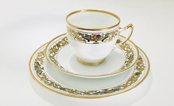 Royal Albert Crown China Art Deco Tea cup and Saucer