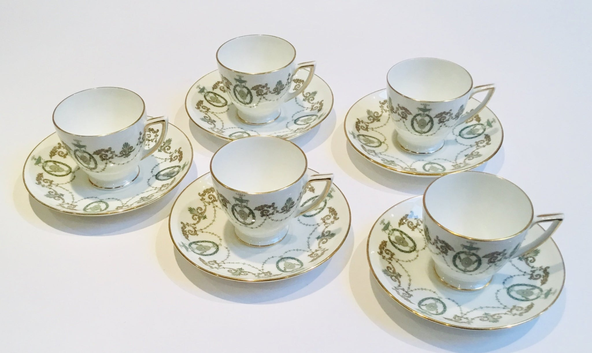 Minton China Pattern Adam - Demitasse Cups/Saucers