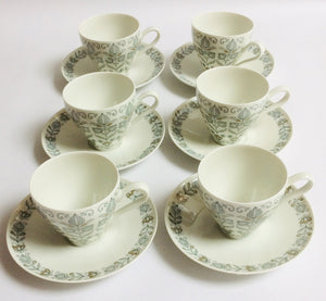 Coffee Cups & Saucers - Set of 6