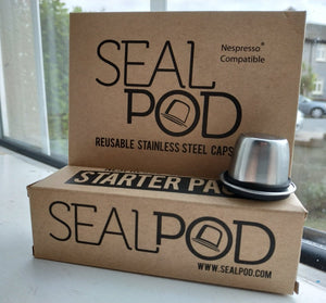 Sealpod Reusable Nespresso pod x 1. (Starter pack contains one capsule and 24 lids)