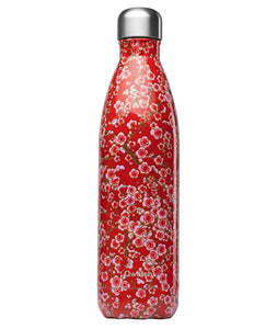 Insulated Red flowers bottle