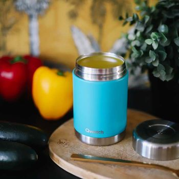 Insulated Stainless Steel Food Jar - Turquoise - 340ml