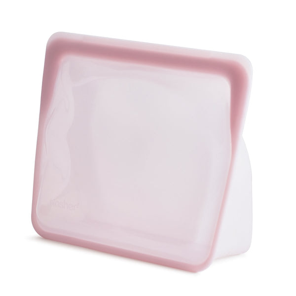 Stasher reusable silicone stand up bags - cook freeze store - zero plastic