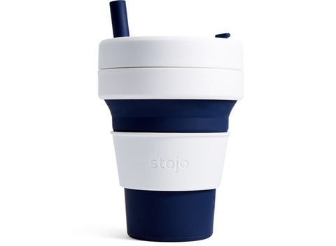 Stojo Biggie collapsible cup Indigo 16oz