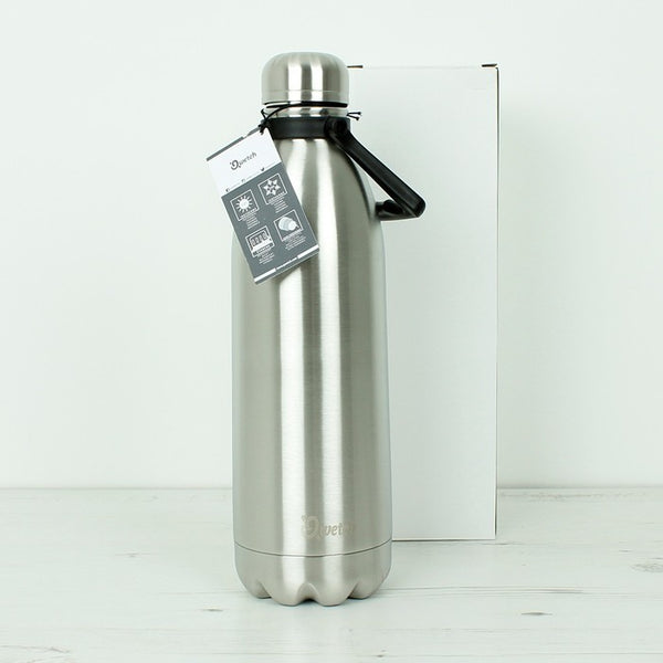 Insulated Stainless Steel Bottle - Brushed Steel - 1.5l