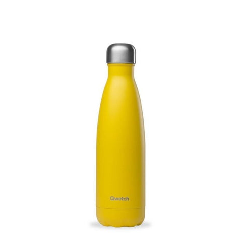 Qwetch Insulated Stainless Steel Bottle - Pop Yellow - 500ml