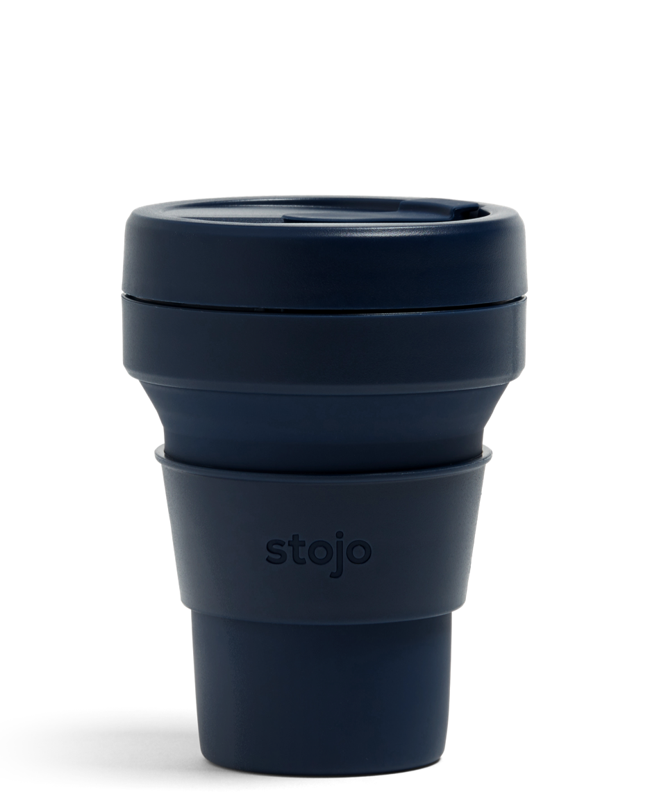 Stojo Navy collapsible cup 12 oz
