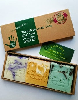 Palm Free Irish Soap : GIFT PACK OF 3 MIXED SOAPS