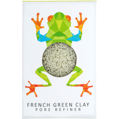 KONJAC MINI PORE REFINER RAINFOREST TREE FROG FRENCH GREEN CLAY