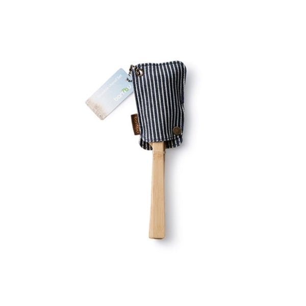 Utensil Travel Set with Organic Cotton Stripe Pouch
