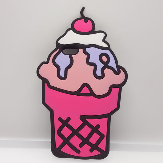 Pink Ice Cream Sunday iPhone Case