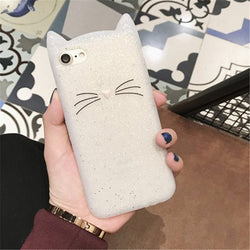 White Cat Whiskers 3D iPhone Case