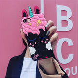 Pink Sleepy Unicorn 3D iPhone Case