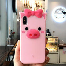 Cute Pig 3D iPhone Case