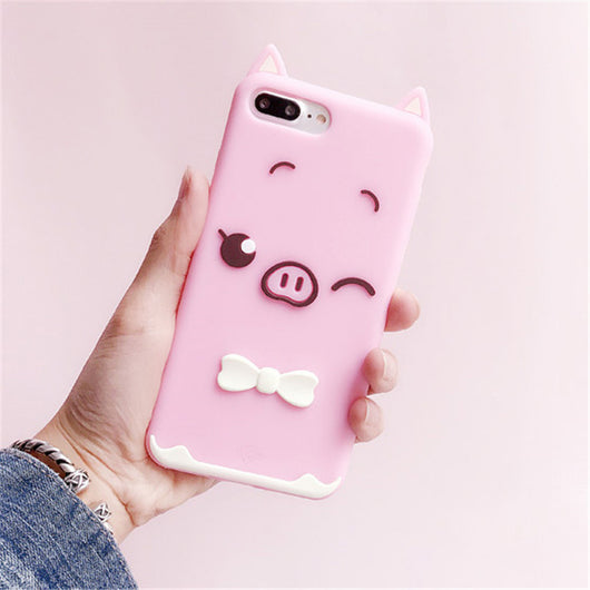 Winking Pig 3D iPhone Case