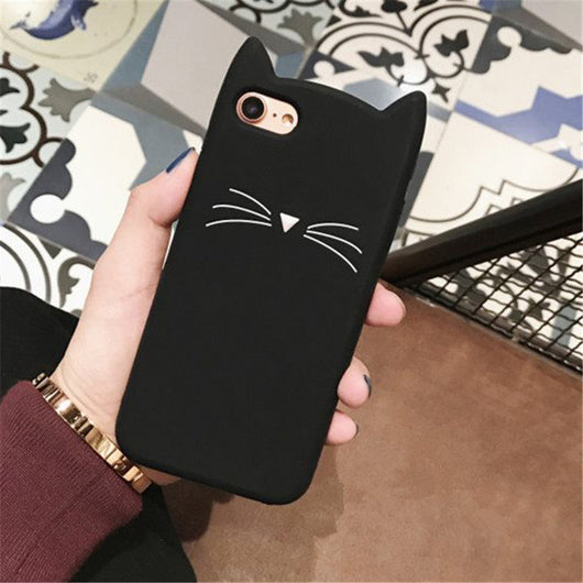 Black Cat Whiskers 3D iPhone Case